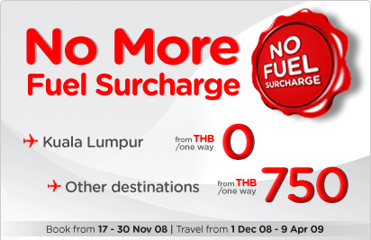 Air Asia - Absolute Free Seats (No Fuel Surcharge) from +